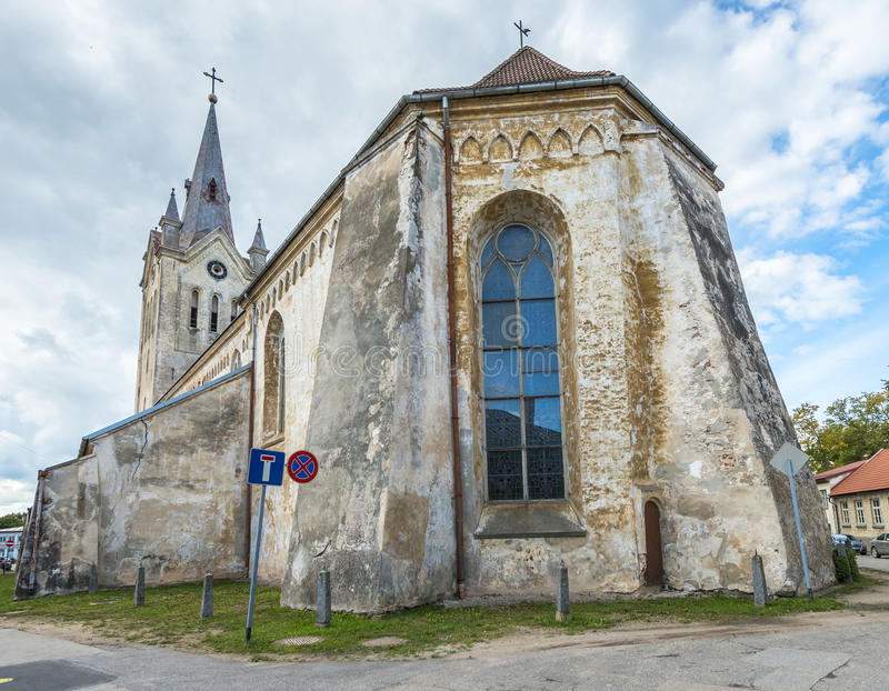 Medieval church in Cesis city, Latvia, Europe royalty free stock photos