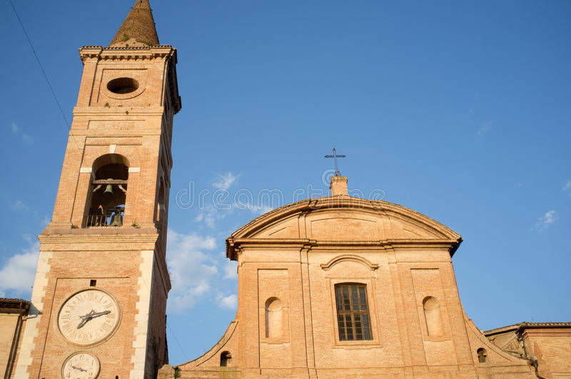 Medieval Church In The City Of Caldarola In Italy Royalty Free Stock Image