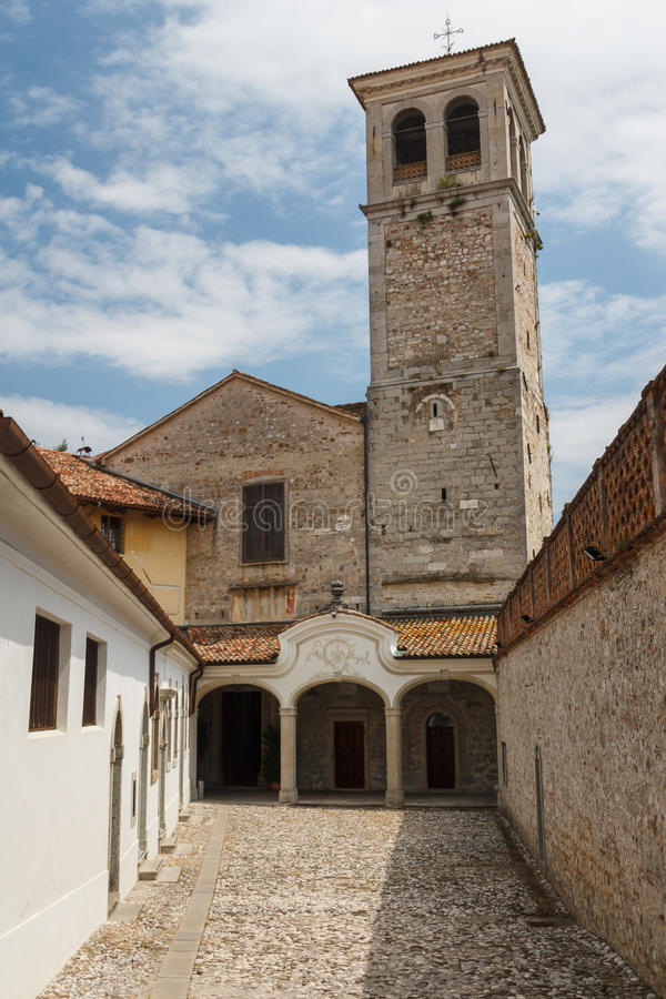 Medieval church in Cividale del Friuli stock photo