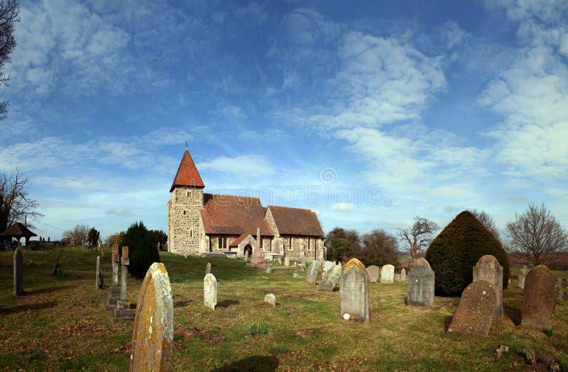 Medieval Church Grave Graveyard England Stock Image