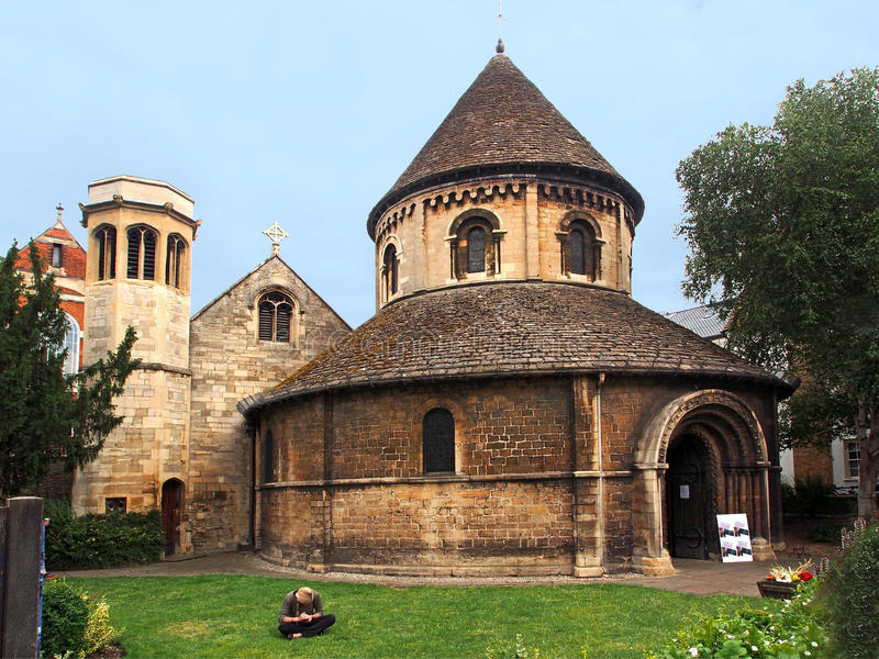 Medieval Church. Holy Sepulchre, Medieval Church, Cambridge, England royalty free stock photo