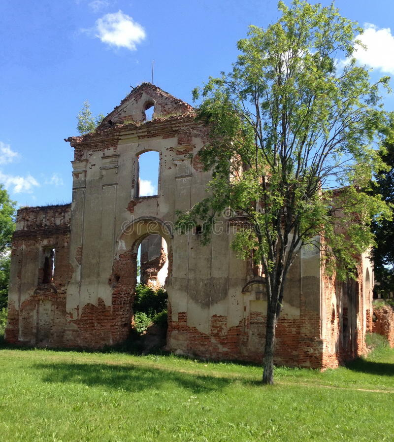 Medieval church ruins. The ruins of a medieval church royalty free stock photo