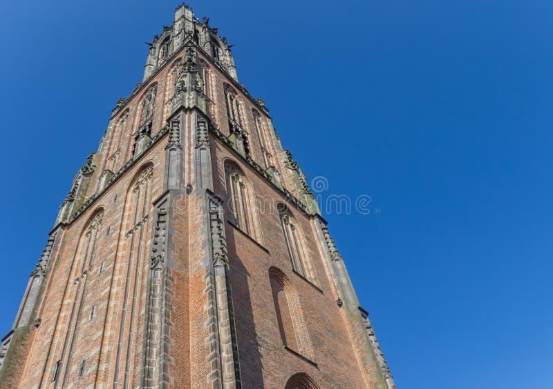 Medieval church tower Onze Lieve Vrouwetoren in Amersfoort. Netherlands stock image