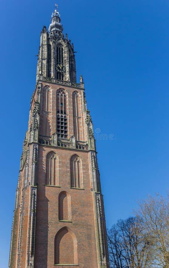 Medieval church tower Onze Lieve Vrouwetoren in Amersfoort. Netherlands stock images