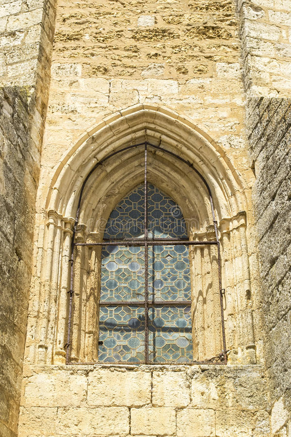Medieval church window stock image