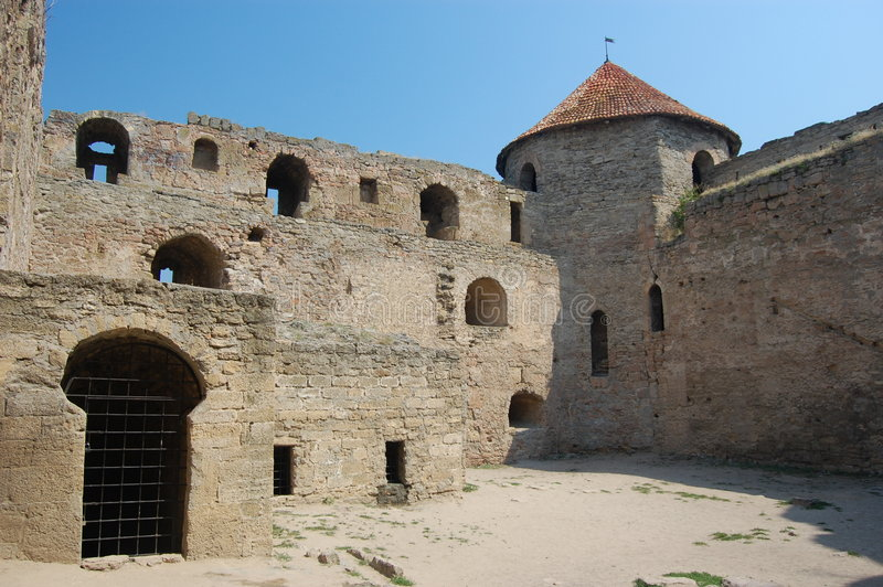 Medieval citadel near Odessa, stock photo
