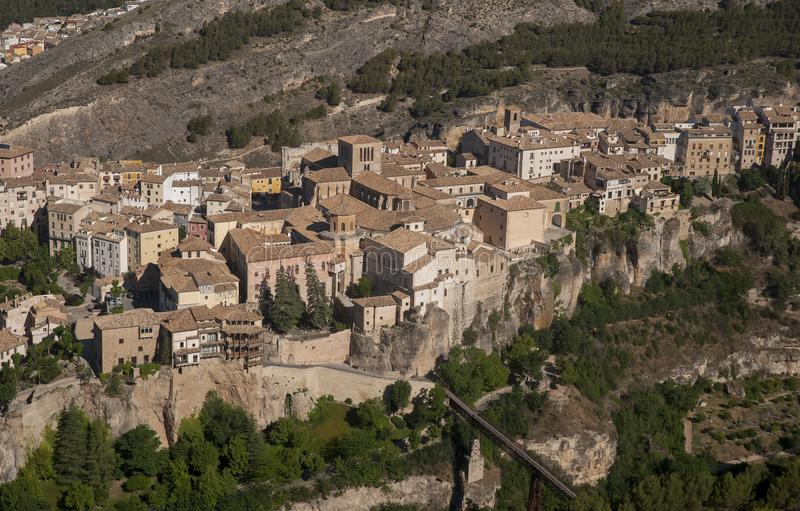 Medieval cities of Spain, Cuenca in the autonomous community of Castilla la Mancha. Monumental area of the ancient city of Cuenca stock photo