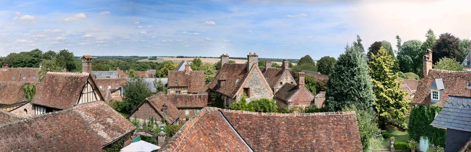 The medieval city of Gerberoy in France royalty free stock photography