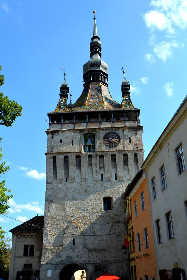 Medieval city Sighisoara, in Transylvania royalty free stock photo