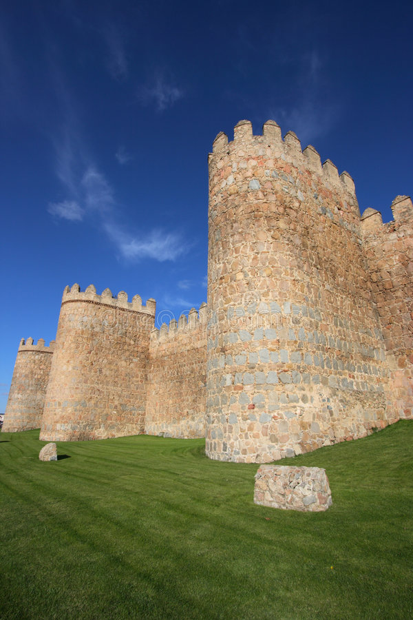 Medieval city walls royalty free stock photos