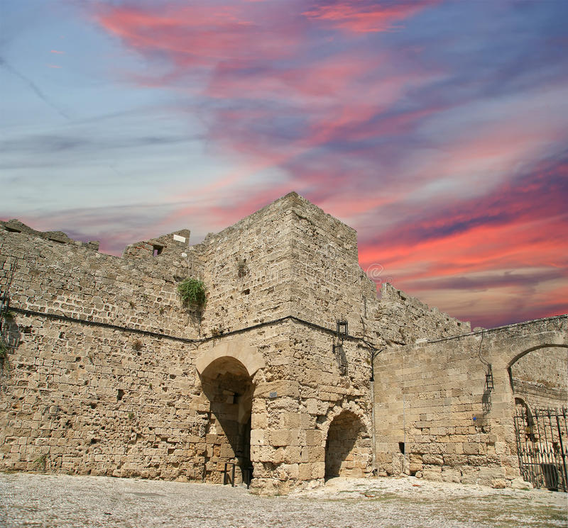 Download Medieval City Walls In Rhodes Town, Greece Stock Photo - Image: 31352916