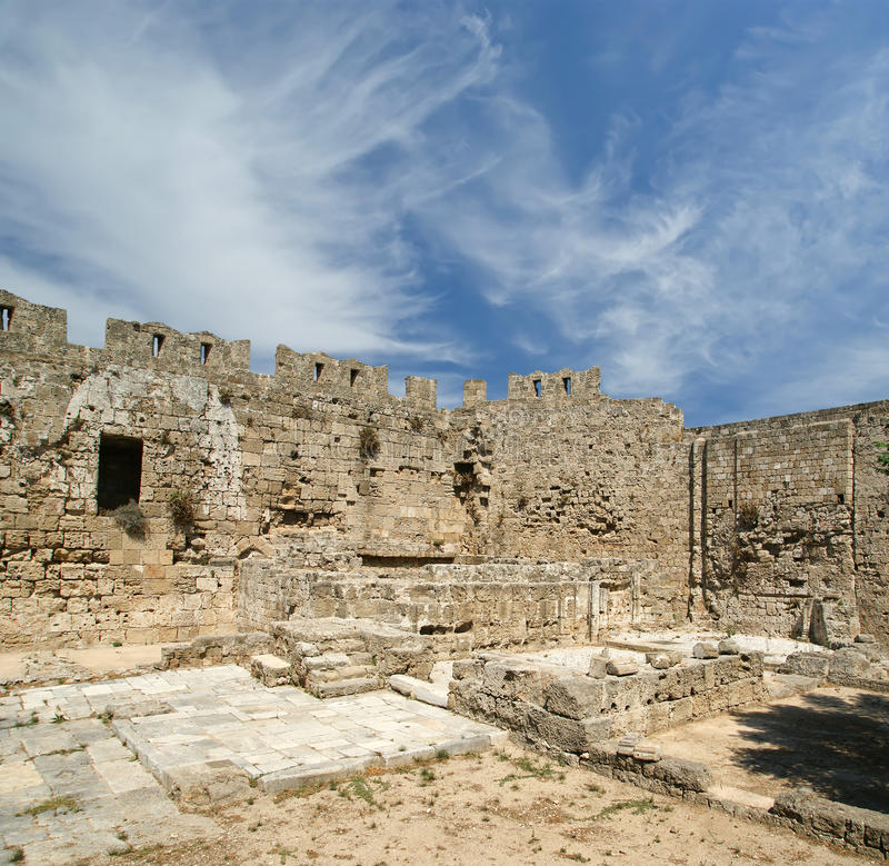 Download Medieval City Walls In Rhodes Town, Greece Stock Photo - Image: 31353252