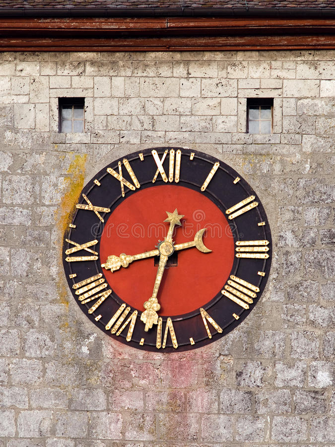 Download Medieval clock face stock image. Image of washed, historic - 26417875