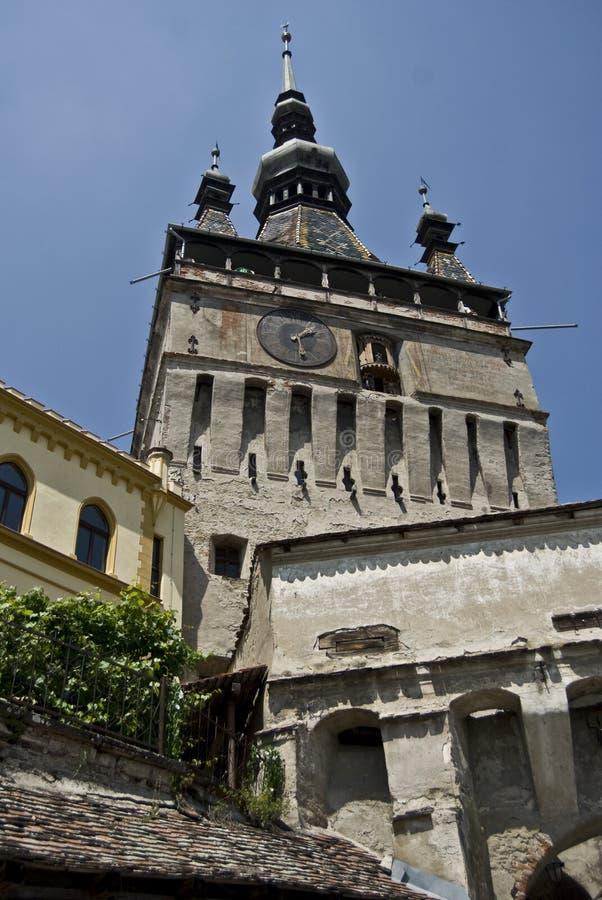 Medieval Clock Tower - Sighisoara stock photos