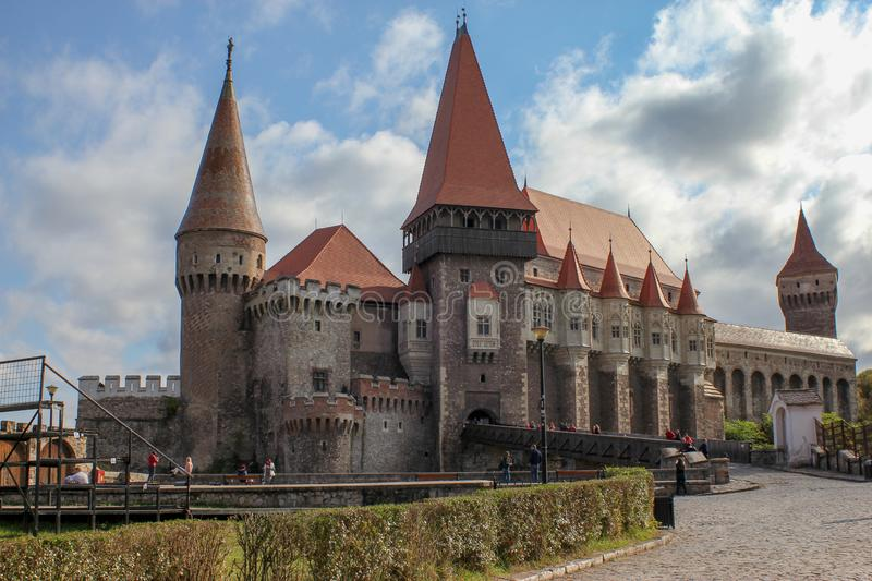 Medieval Corvin Castle royalty free stock photos