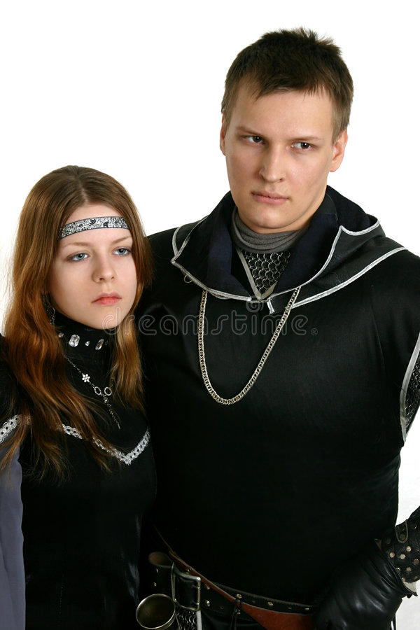 Medieval couple royalty free stock photography