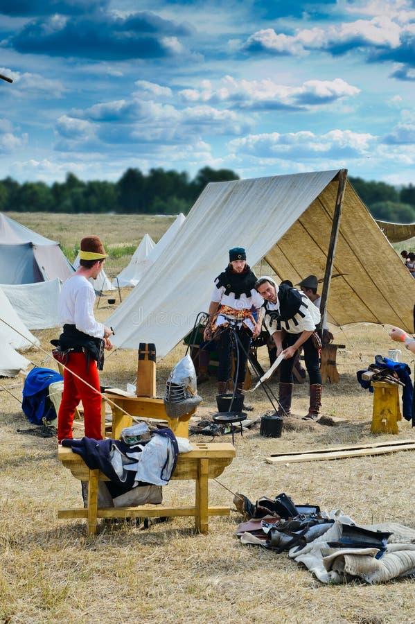 Download Medieval craftsmen village editorial photography. Image of camp - 20959037