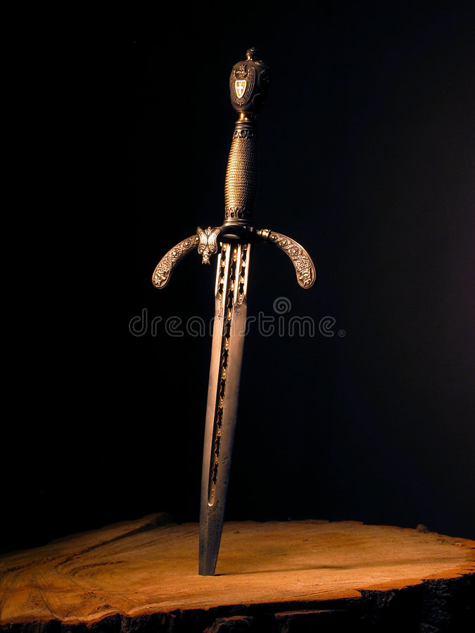 Medieval dagger. It was often used by pirates stock photography