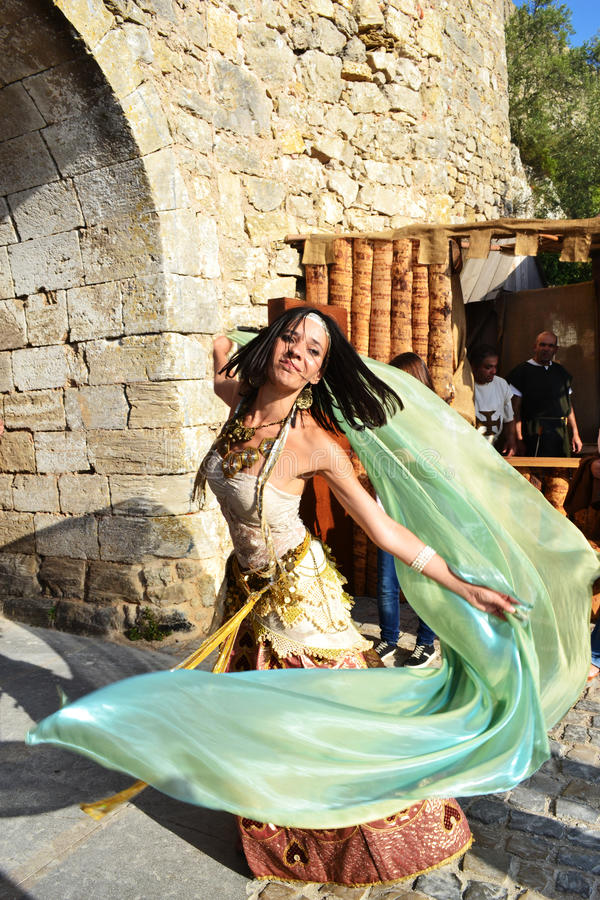 Medieval Dancer stock photography