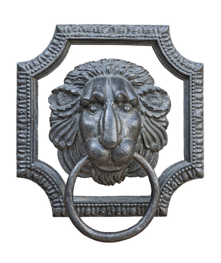 Medieval door knocker cutout stock photos