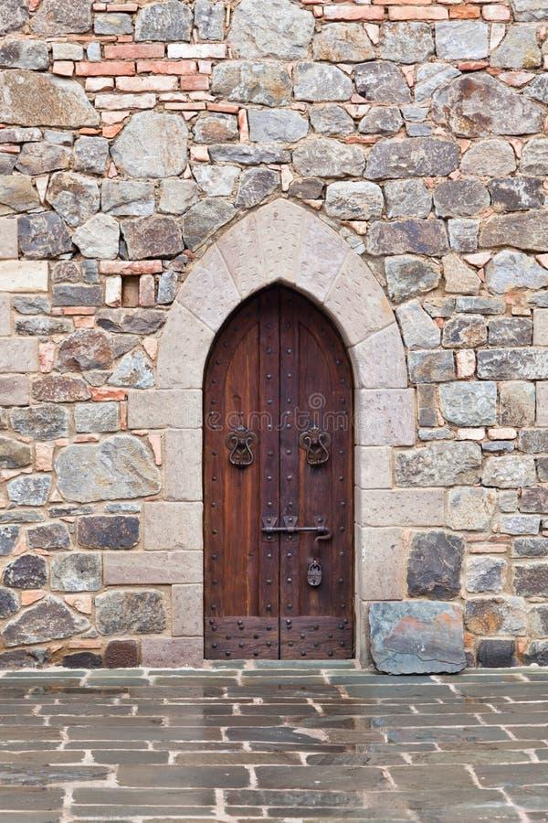 download medieval door with lock stock photo image of wooden 31300164