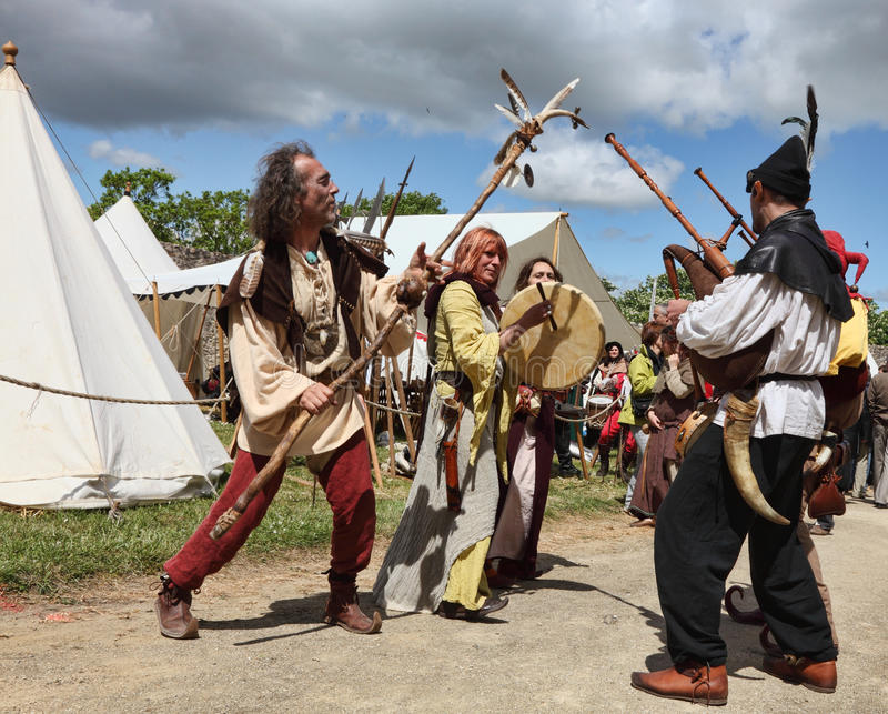 Download Medieval Entertainers editorial photo. Image of rotrou - 30938596