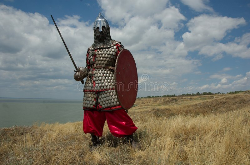 Medieval European knight stock images
