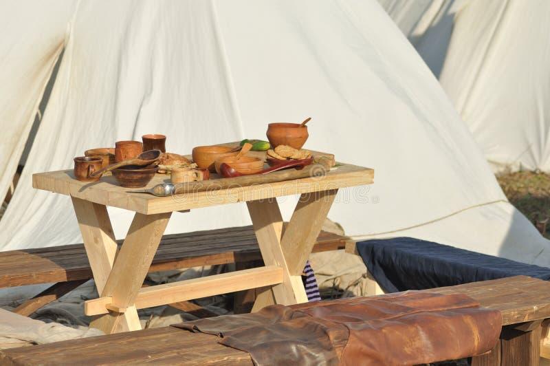 Medieval föda royaltyfri bild