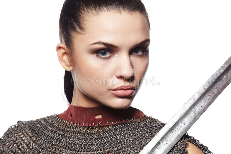 Download Medieval Female Knight In Armour Royalty Free Stock Image - Image: 21866656