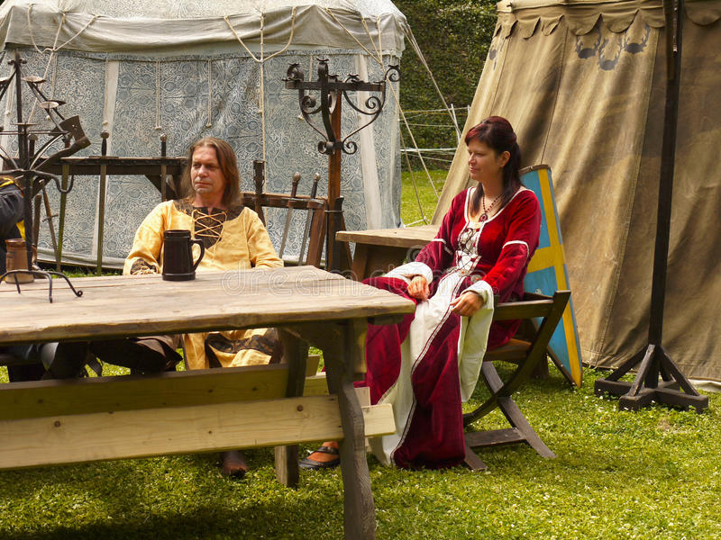 Medieval Camp Festival royalty free stock photography