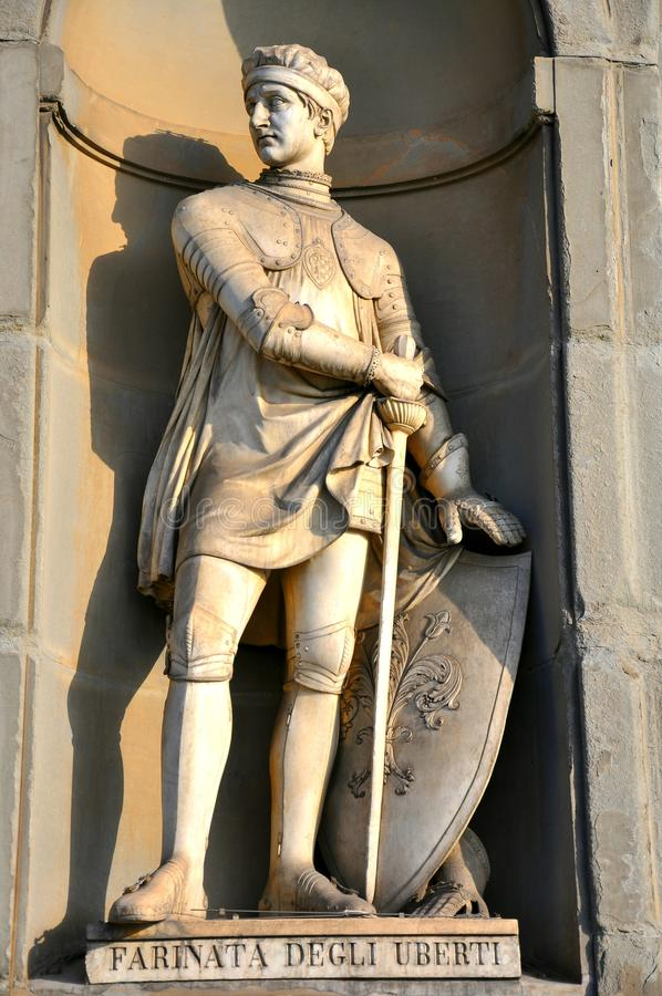 Medieval figure in Italy stock photo