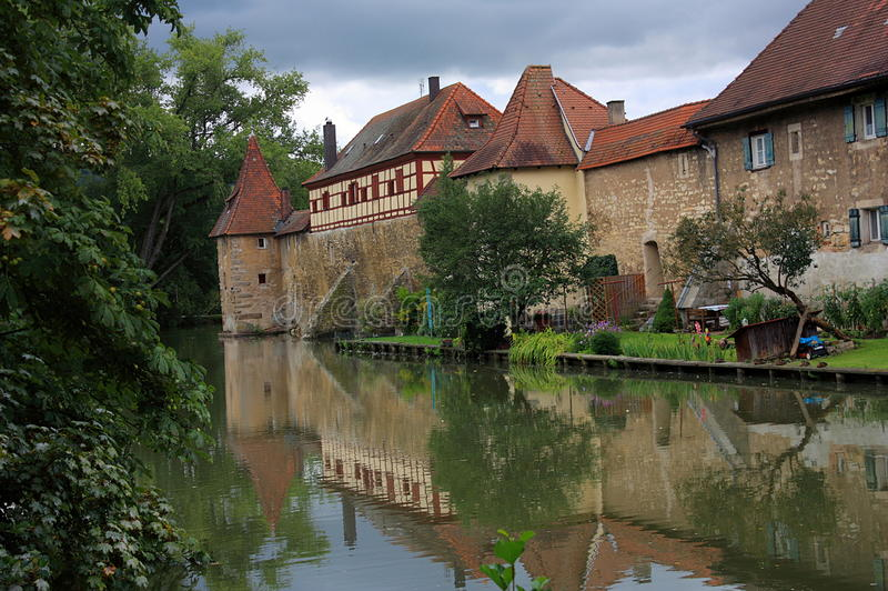Medieval Fortifications of the Imperial City of Weissenburg, Bavaria, Germany stock photos