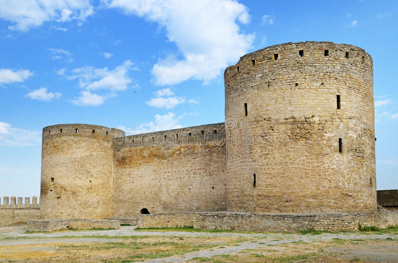 Medieval fortress (Ackerman Ukraine). And sky royalty free stock image