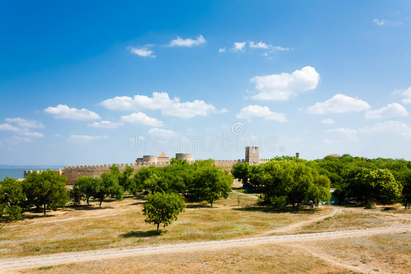 Medieval Fortress Akkerman Belgorod-Dniester, Ukraine royalty free stock photo