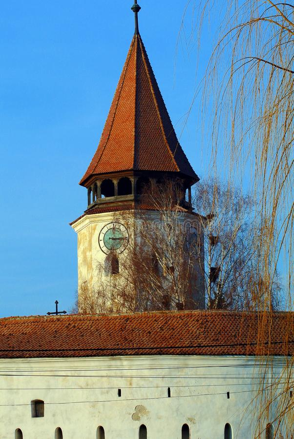Medieval fortress. Fortress medieval arad tower architecture romania tourism old ancient ruin travel touristic roof ineu art fortress royalty free stock photos