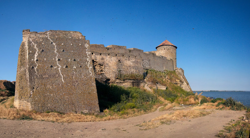 Medieval fortress Belgorod on Dniester. (Akkerman) Ukraine Odessa region royalty free stock images