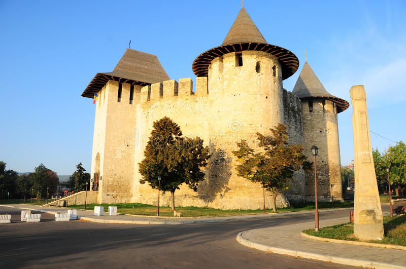 Medieval fortress in Soroca, Moldova stock images