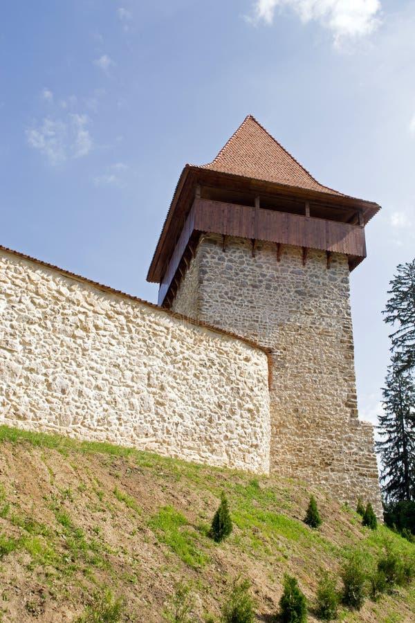 Medieval Fortress Tower. Rasnov, Romania, Transylvania royalty free stock image
