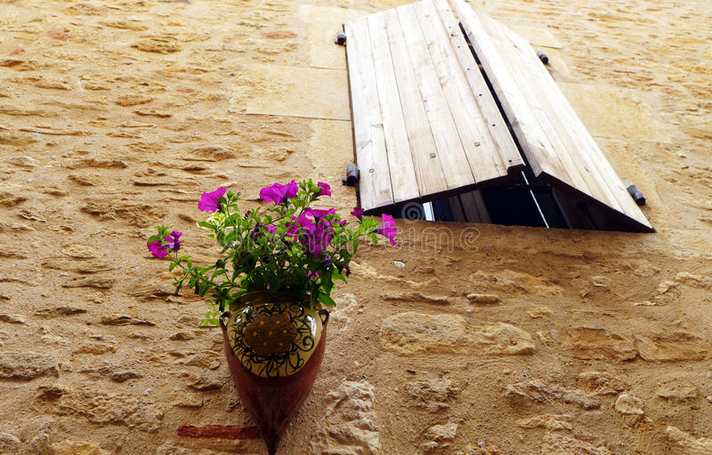 Medieval French House Window Royalty Free Stock Photos