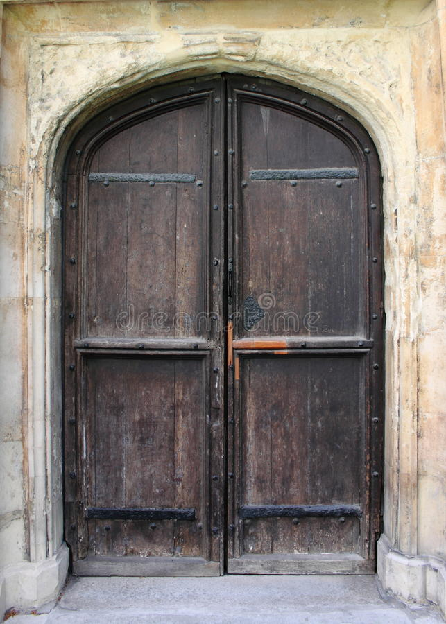 Medieval front door royalty free stock images