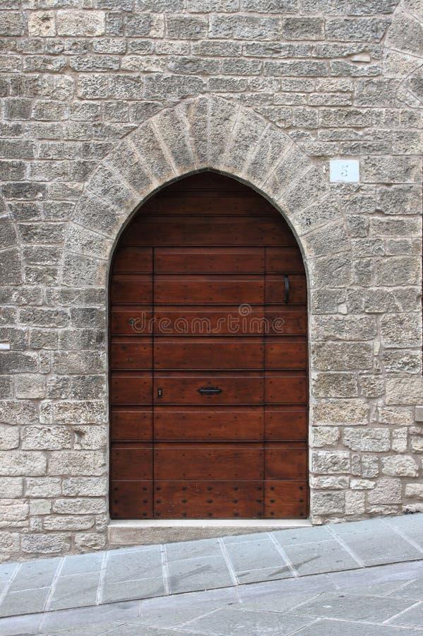 Medieval front door stock photo
