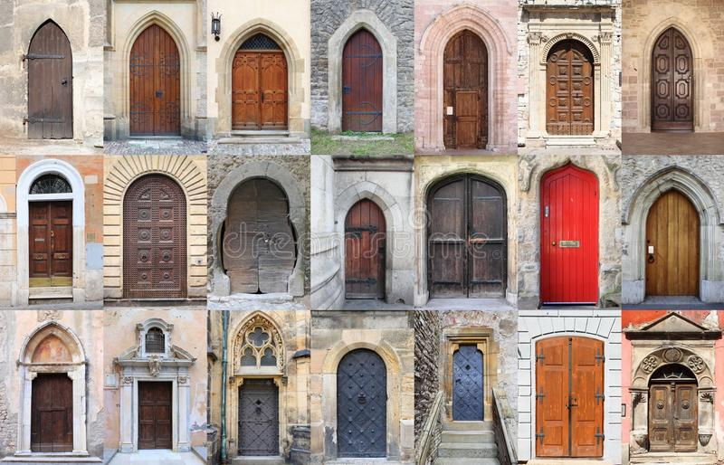 Medieval front doors royalty free stock photo