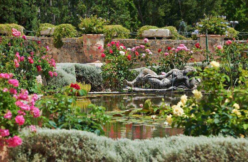 Download Medieval garden in France stock image. Image of france - 23398863