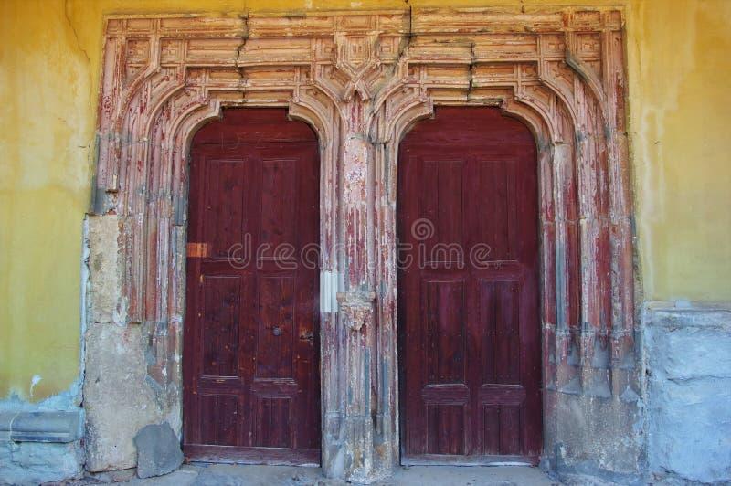 Medieval gates royalty free stock photo