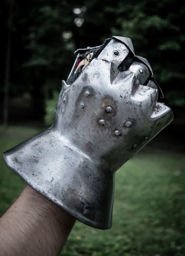 Medieval gauntlet royalty free stock photos