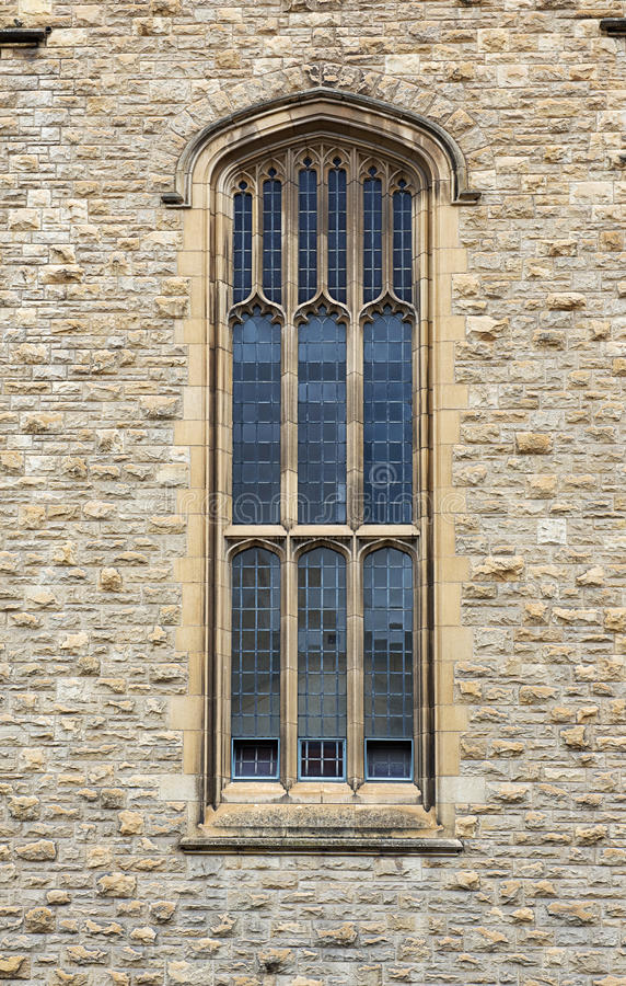 Medieval Gothic styled window. Of Bonython Hall in Adelaide,Australia stock photos
