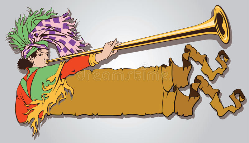 Medieval herald royalty free illustration