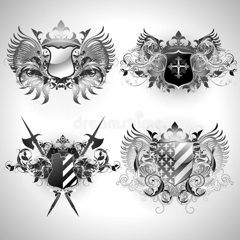 Download Medieval heraldic shields stock vector. Illustration of medieval - 5974971