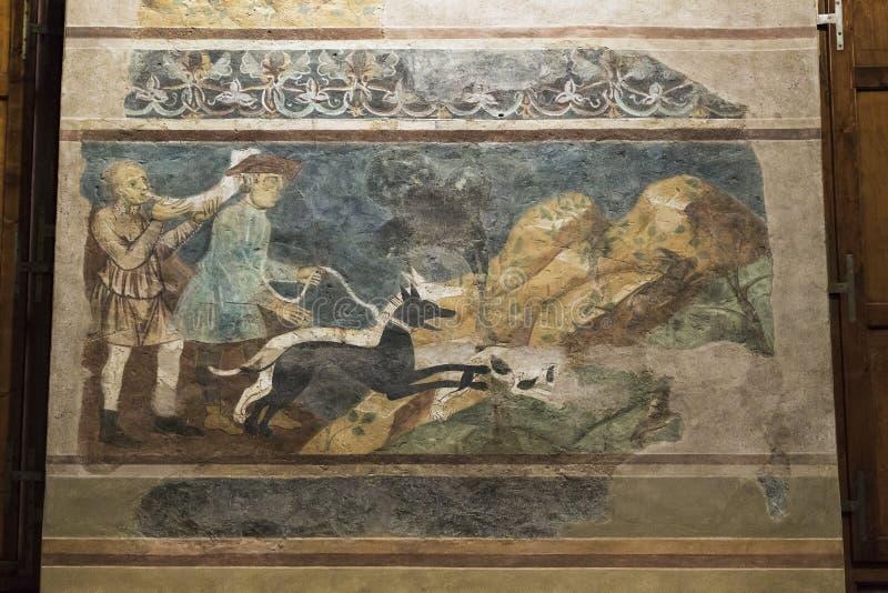 Medieval heritage of San Gimigliano, Italy stock photos