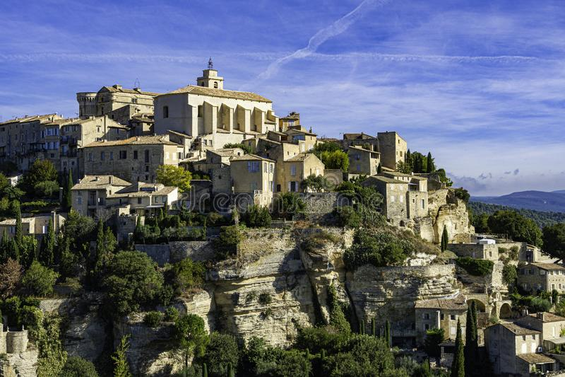 Medieval hilltop town of Gordes. Provence, Luberon national park. Medieval hilltop town of Gordes. Luberon national park. Provence. France, europe, architecture stock photography